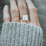 Be Strong and Courageous ring , Inspirational Ring For Women,  Motivation Jewelry, Sterling Silver Simple Ring Gift
