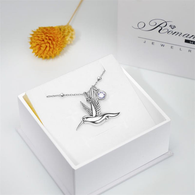 Hummingbird Anklet Sterling Silver Beaded Anklet Bracelet Hummingbird Necklace Good Luck Charm Jewelry