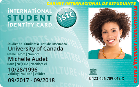Canadian Federation of Students Member ISIC
