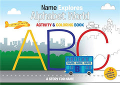 Personalized ABC Letter World Color In-Activity Book