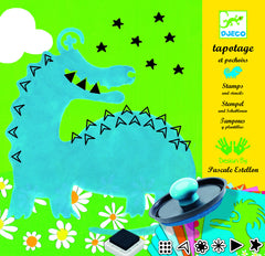 Djeco Big Monsters Stamps & Stencils Set