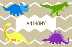 Personalized Placemats - Dinosaurs