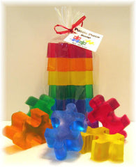 Puzzle Piece Shaped Soaps