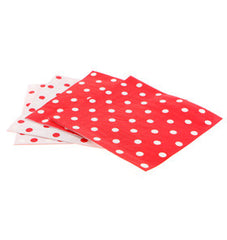 Paper Party Napkins- Red and White Polka Dots