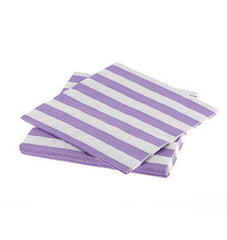 Paper Party Napkins- Lavender Stripe