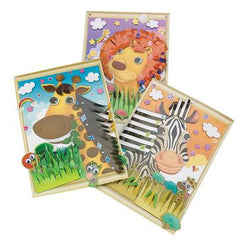 3D Animal Sticker Scenes