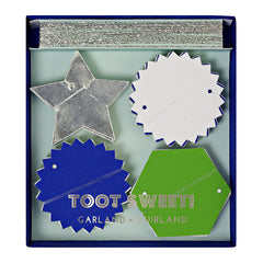 Toot Sweet Blue Mini Garland