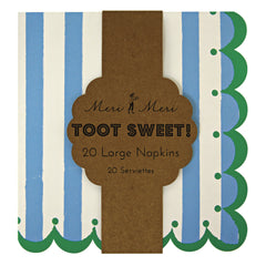 Large Paper Party Napkins- Toot Sweet Blue