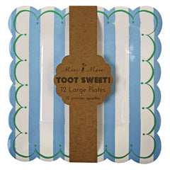 "9"" Square Plates- Toot Sweet Blue"