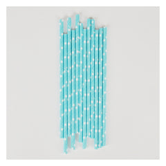 Paper Party Straws- Light Blue Stars