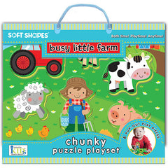 Busy Little Farm Puzzle Playset