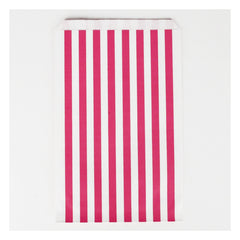 Favor Bags- Bright Pink Stripe