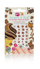 Chocolate Scratch and Sniff Nail Stickers