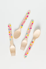 Confetti Birthday Wooden Utensils