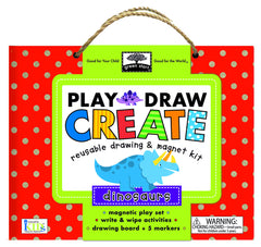 Play, Draw & Create Reusable Activity Kit- Dinosaurs