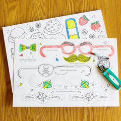 Paper Disguises Placemats (Color My Own)