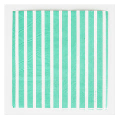 Paper Party Napkins- Green Stripe