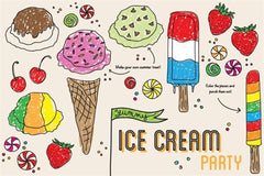 Ice Cream Placemats (Color My Own)