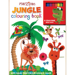 Marzipan Jungle Wipe-Clean Coloring Book