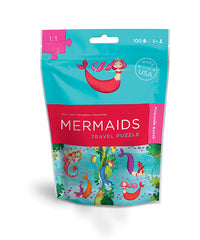 100 Piece Mermaids Puzzle Travel Pouch