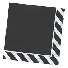 Paper Party Napkins- Black Striped Edge