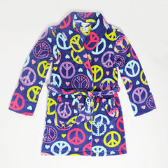 Plush Fleece Peace Love Weekends Cuddle Up Robe