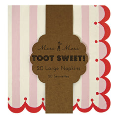 Large Paper Party Napkins- Toot Sweet Pink