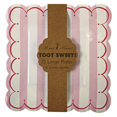 "9"" Square Plates- Toot Sweet Pink"