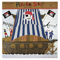Ahoy There Pirate Cupcake Stand Centerpiece