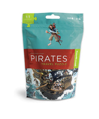 100 Piece Pirates Puzzle Travel Pouch