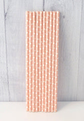 Paper Party Straws- Pink Polka Dot