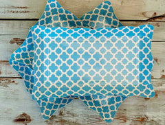Paper Serving Trays- Blue Quatrefoil