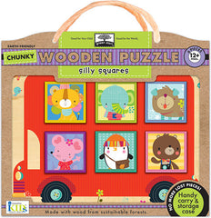 Silly Squares Chunky Wooden Puzzle