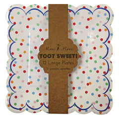 "9"" Square Plates- Toot Sweet Spotty"