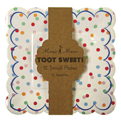 "7"" Square Plates- Toot Sweet Spotty"