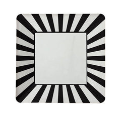 "9"" Square Plates- Black Stripe"