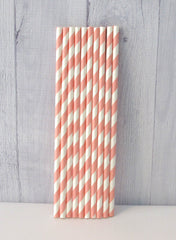 Paper Party Straws- Pink Stripe