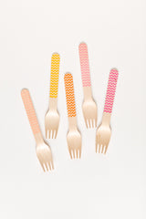 Sunset Chevron Wooden Utensils