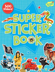 Blue Super Sticker Book
