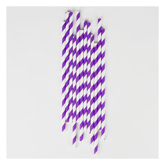 Paper Party Straws- Violet Stripe