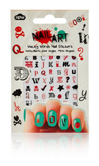 Wacky Words Nail Stickers