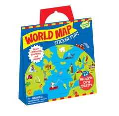 World Map Reusable Sticker Tote
