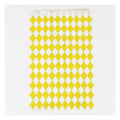 Favor Bags- Yellow Diamonds