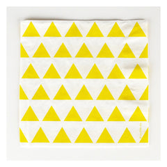 Paper Party Napkins- Yellow Triangles