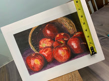 "Load image into Gallery viewer, Apples Print, ""Spilled Apples"""