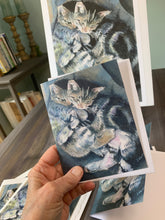 "Load image into Gallery viewer, Pet Cat, Kittens, Notecards, Sister Love"" pack of 3"