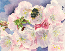"Load image into Gallery viewer, Bumble Bee Painting, ""And the Bees..."" Original"