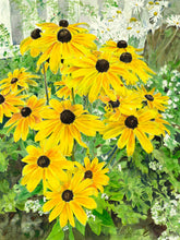 "Load image into Gallery viewer, Black-Eyed Susan Greeting Card, ""Blooming Summer"