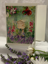 "Load image into Gallery viewer, Bee House Floral Greeting Card, ""A Bee's Dream"""