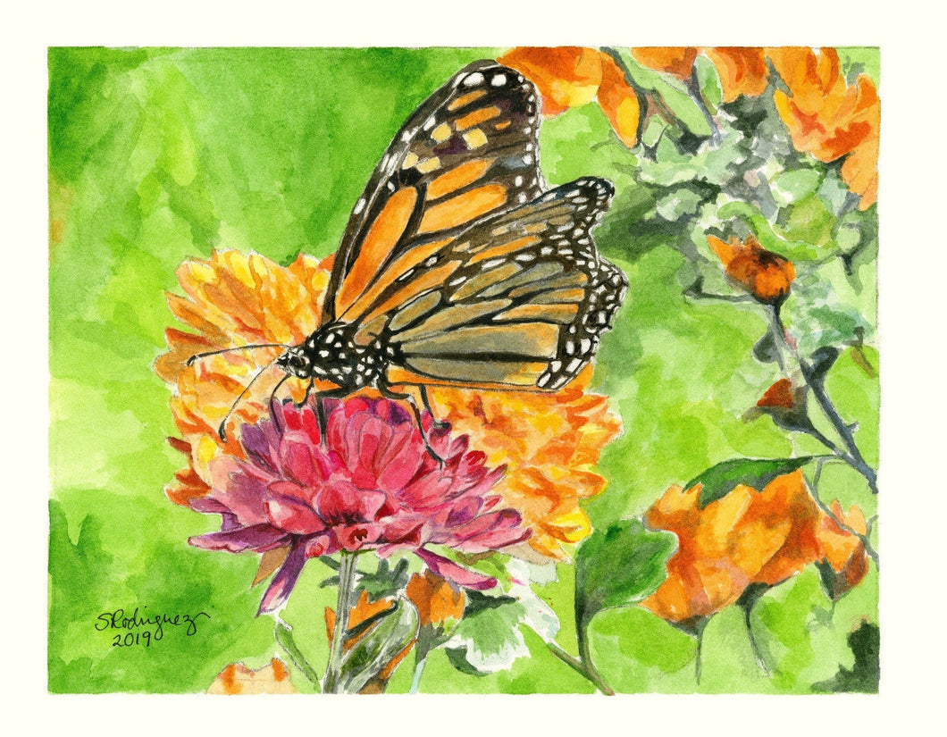 Monarch Butterfly Print,